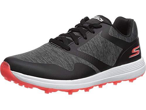Skechers Women's Max Golf Shoe, Black/Pink Heathered, 6.5 M US