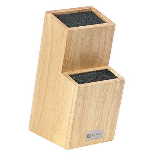 Zelancio Universal Wood Knife Holder | Wooden Knife Block for Any Knife | Block only