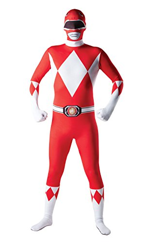 Rubies - Disfraz Oficial de Power Rangers de Mighty Morphin para Adulto (Talla Mediana), Color Rojo