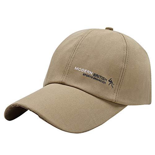AIEOE Basecap mit Langem Schirm Baumwolle Snapback Cap Kappe für Damen und Herren, Khaki