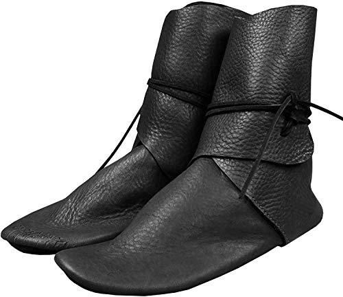 Erneut Herren Stiefeletten Renaissance Slip on Loafer Mittelalterlichen Cosplay Piraten Wikinger Gebunden Halloween Manschette Schuhe