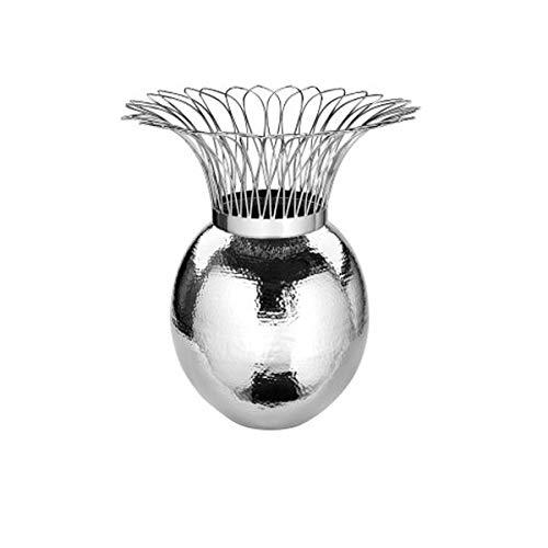 Fink - Tropic - Vase - Metall/vernickelt - Ø 45 x H: 46cm