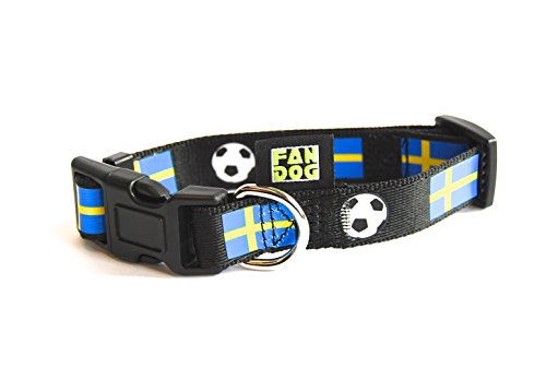 Hondenhalsband FanDog - Zweden - Maat M