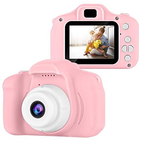 Ponacat Kinderkamera 13 Megapixel 1080P Fhd Wiederaufladbarer Digitaler Camcorder für Kinder von 3-10 Jahren Stoßfestes Kinderkamerageschenk mit 2 0 Zoll Touchscreen 32 GB SD-Karte