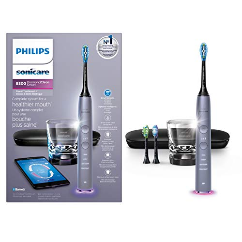Philips Sonicare DiamondClean Smart Rechargeable Electric Toothbrush with 4 Brushing Modes, 3 Brushheads, Intensity Control, Sensor & Travel Case -...