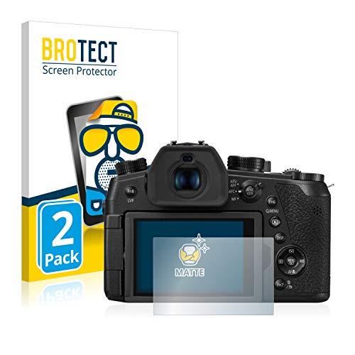 BROTECT 2X Entspiegelungs-Schutzfolie kompatibel mit Panasonic Lumix DC-FZ1000 II Bildschirmschutz-Folie Matt, Anti-Reflex, Anti-Fingerprint