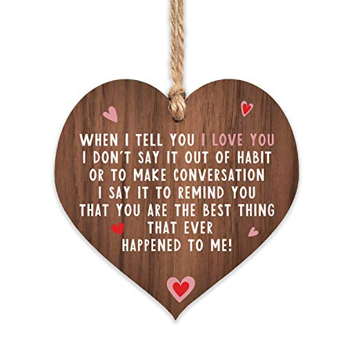I love you plaque | gifts | heart for her | signs hanging girlfriend...
