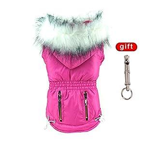 Manteau de chien de Handfly Manteau d'hiver Manteau de chien Chien Pull Vêtements de chien avec buste violet à capuchon, personnisable