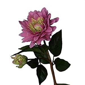 Artificial Flowers,Fake Plants Faux Plastic Fake Plants Wedding,Artificial Flower Multipurpose Non-Fading Faux Silk Cloth Household Fake Dahlia for Home – Purple