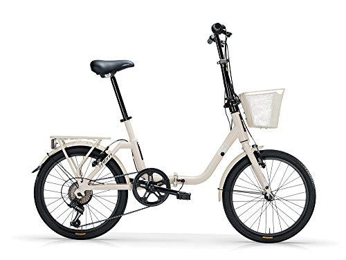 MBM Kangaroo PIEGH Acc 20' 6V C/Cesto, Bici Unisex Adulto, Crema A07, XX