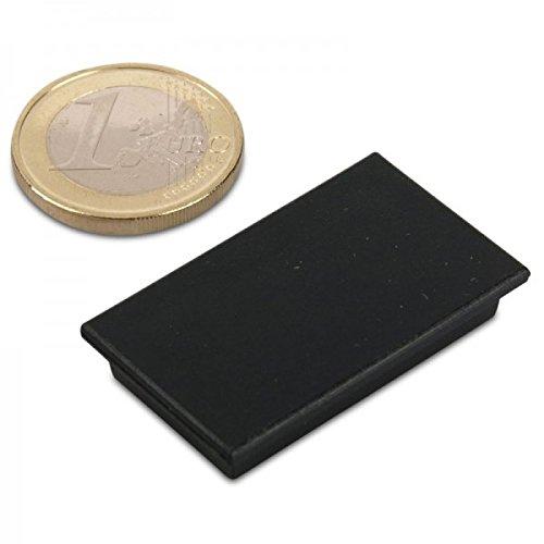 Memomagnet 37 x 22 x 7,5 mm FERRIT - zwart - houdt 1,1 kg, tafelmagneet, prikbord magneet, kantoormagneet, voor whiteboard kantoor magazijn