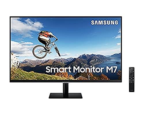 Samsung Smart Monitor M7 32  in risoluzione UHD 4K Il primo schermo all-in-one per accedere facilmente alle tue applicazioni di intrattenimento e lavoro