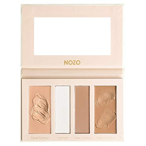4 Color Professional Cosmetics Cream Face And Nose Highlight Contour Palette, Highlighting Concealer Makeup Kit, Creating Flawless And Small Face