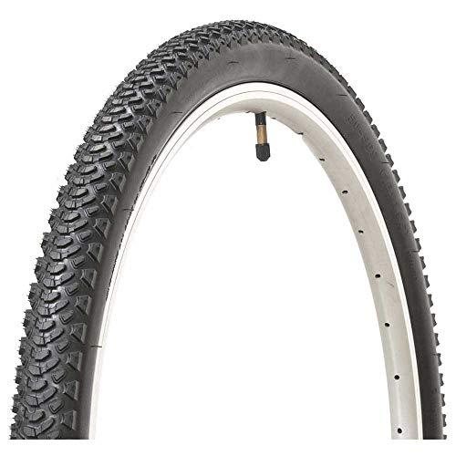 Kenda - Neumático para Bicicletas -50-Fifty Preferred - Uso Bicicleta Montañera - Medida: 29 x 2.10 - TPI 30 - Cubiertas MTB 29 - Color Negro - Aros en Color Rojo - Excelente Relación Precio Calidad