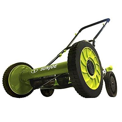 "Sun Joe MJ504M Push Manual Reel Mower Without Grass Catcher, 16"", Green"