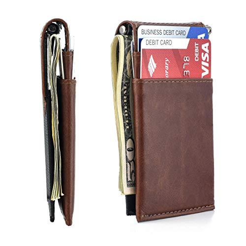 The Latcher Minimalist Wallet & Card Case Companion (Genuine Leather)