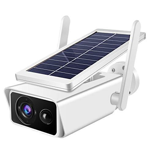 Fransande T13-2 - Cámara de vigilancia solar IP66 para destete nocturno, estanca, tarjeta de conexión Hotspot para la casa o la empresa al aire libre