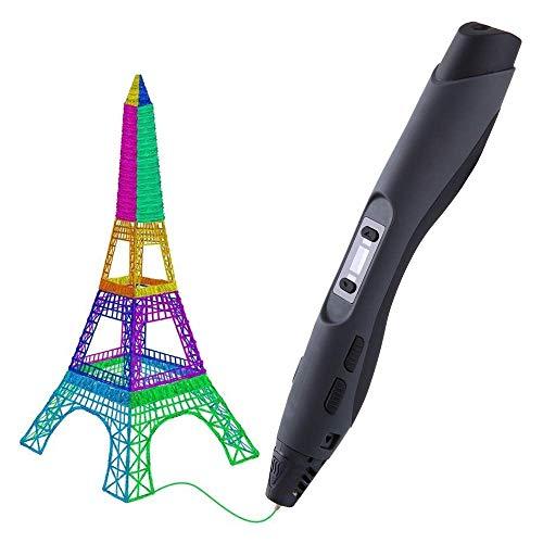 RJJBYY Stylo d'impression 3D, Stylo 3D Intelligent avec Affichage À LED Chargement USB Contrôle De La Température d'impression Cadeaux Intéressants pour Tous Les Âges