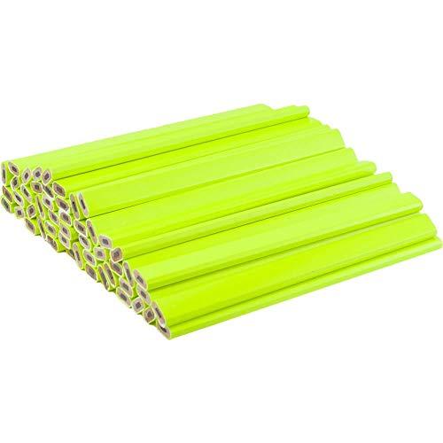 Neon Yellow Carpenter Pencils – 72 Count Bulk Box - Ten Color Choices