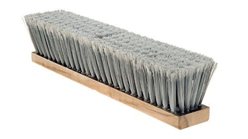"ABCO BH-11-9 Fine Sweep Push Broom - 36"", 3"" Bristles, 4"" Height, 2.5"" Width, Grey Flagged Bristles"