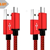 6FT Micro USB Charger Cable Android Fast Charging Cord 2Pack Compatible with Samsung Galaxy S5 S6 S7 Edge J8 J7 J6 J6+,J5 J3 Prime/Pro,J7 V/Sky Pro/Crown, Lg Stylo 3 G4 K30 K20 Moto G5S/G5 G4 Plus Red