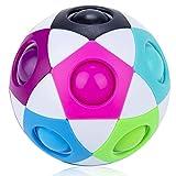 Mamowla Magic Rainbow Ball 3D Puzzle Ball Arco Iris Pelota Juguetes Educativos Speed Cube Rainbow Puzzle Ball Pelota Mgica Arco Iris Desarrollar La Inteligencia para NiñOs Y Adultos Blanco