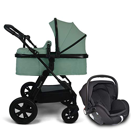 Pixini Travel-Set Arizona Luxe mit Babyschale (mint melange) 3in1 Komplettset
