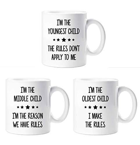 Regolamento Set Tazze Mug I'm The Youngest I'm Nel Medie I'm The Antica Sibling Rivalry Presente Tazze