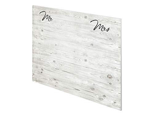 "Marca Amazon - Movian Kolva Modern - Cabecero ""Mr & Mrs"", 2,2 x 160 x 110 cm (estampado)"