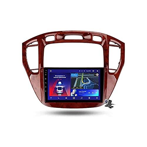 Coche GPS Pantalla táctil Navegación Radio Estéreo Reproductor multimedia Soporte Mirrorlink Wifi 4G Mapa Bluetooth Llamadas manos libres para Toyota Highlander 1 2001-2007,4 Core 4G + WiFi: 2 + 32GB