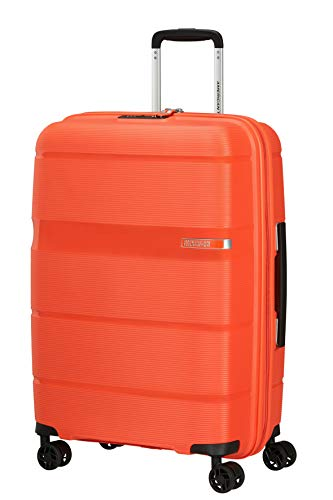 American Tourister Linex Spinner M, Valigia, 66 cm, 63 L, Arancione (Tigerlily Orange)