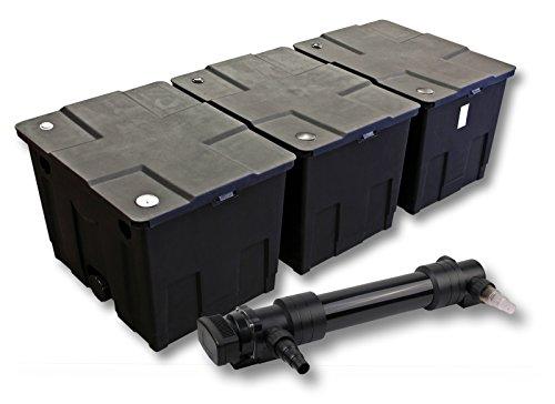 SunSun 3-Kammer Filter Set für 90000l Teich mit 36W UVC 6er Teichklärer