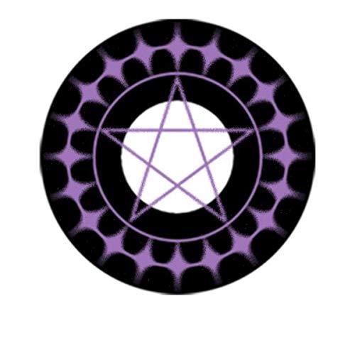 Matlens – EOS Crazy Fun Motiv Halloween Farbige Kontaktlinsen Ciel schwarz lila 2 Linsen 1 Kontaktlinsenbehälter 1 Pflegemittel 50ml FBA