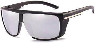 ZJMIYJサングラス男性ビッグフレームサングラス特大サングラスゴーグル男性運転眼鏡UV 400シルバー