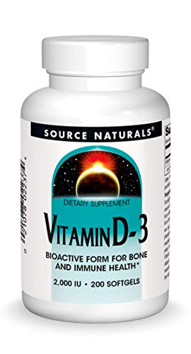 Source Naturals Vitamin D-3 2000 iu Supports Bone & Immune Health - 200 Softgels
