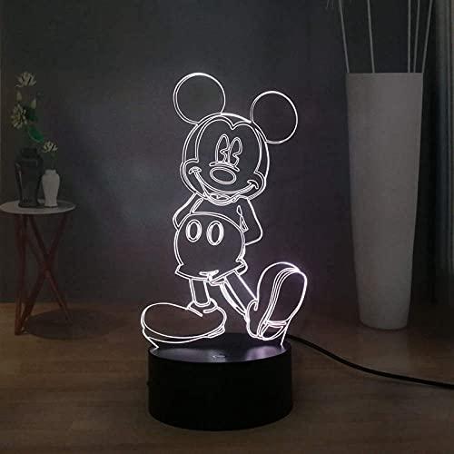 Mickey Mouse 3D - Lámpara LED para habitación