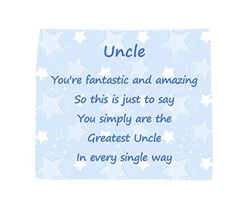 UNCLE 'U bent de beste' zachte microvezel schoonmaak doek Nieuwigheid Familie Gift
