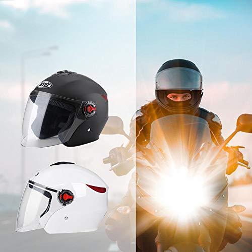 ABS Color Negro Casco Integral de Moto con Doble Lente ABS Motto.h