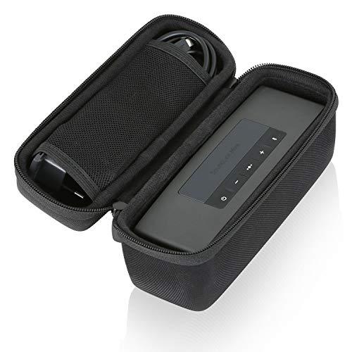 Wicked Chili Tasche kompatibel mit Bose Soundlink Mini 2 Bluetooth Lautsprecher Speaker Hard-Case, Schutz-Hülle (Passgenaue Schutztasche mit Reißverschluss, Fach für Netzteil und Zubehör) schwarz