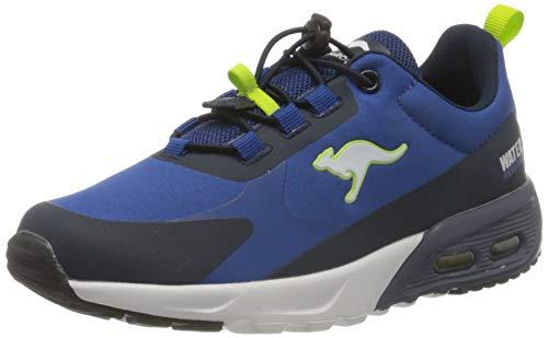 KangaROOS KX-Hydro Low Sneaker, Dk Navy/Lime, 34 EU