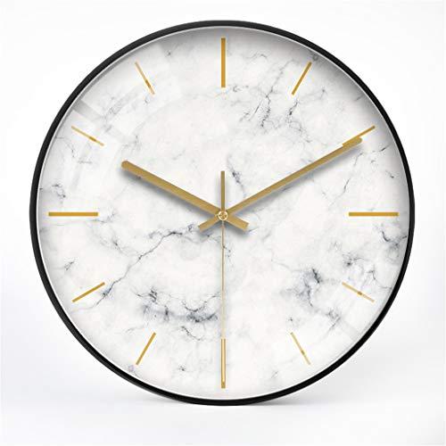 wall clock-Q Wohnaccessoires-QFF Big Wanduhr, Qualitäts-Wanduhr Künstlerische Precision Wanduhr Marble Pattern Wanduhr Hotel Bar Lobby Wanduhr Familiennutzung (Size : 12 inches)
