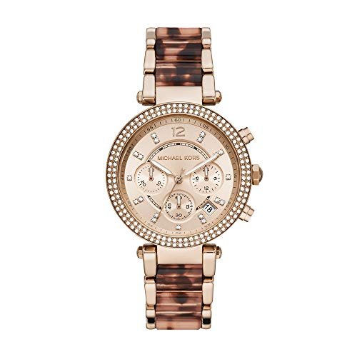 Michael Kors Women's Parker Chronograph Rose Gold-Tone Stainless Steel Watch MK6832