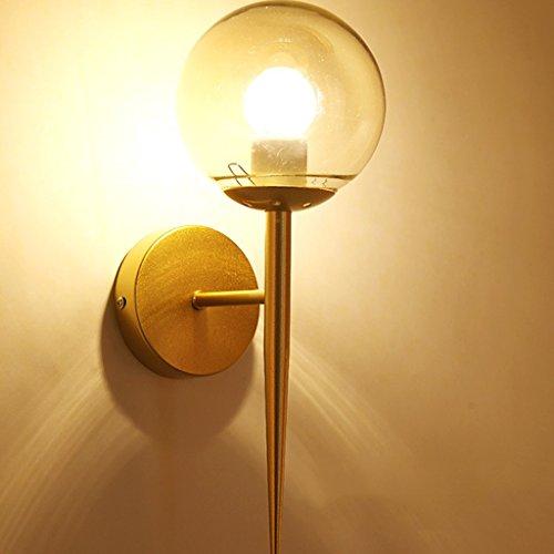 Applique Murale Murale dorée Murale intérieure Simple Moderne LED Murale Ronde d'allée hôtel (13cm * 34cm)