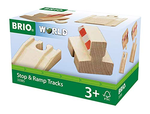 BRIO BRI-33385 33385 World Railway Track-Ramp & Stop Pack, Multicoloured