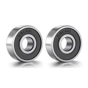 Donepart 608RS Ball Bearings ABEC3 High Speed Double Sealed Bearings for Skateboard, Inline Skates, Motor, Wheels, Fidget Spinners, 3D Printer (2 Pack)