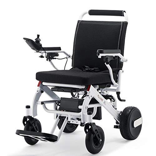 """ADM6 Elektro faltbaren Rollstuhl, Superleichtgewicht 19KG Faltbare Leistung Mobilität Rollstuhl Gewicht, zugelassen für die Flugzeug-Reise, Drive Dual """"600W Motorsup auf 12 Meilen"""