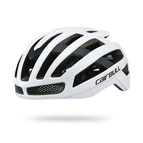 XuBa - Casco de Seguridad para Ciclismo al Aire Libre, Muy Ligero, cómodo y Transpirable, White/M (52-58CM)