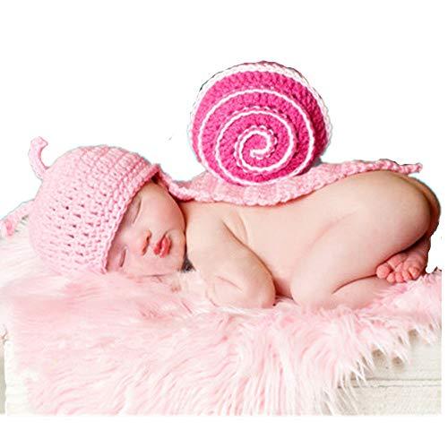 Aprilfun Baby Photo Prop Vestito Vestiti Maglia Crochet Photopraphy Handmade lumache Stile
