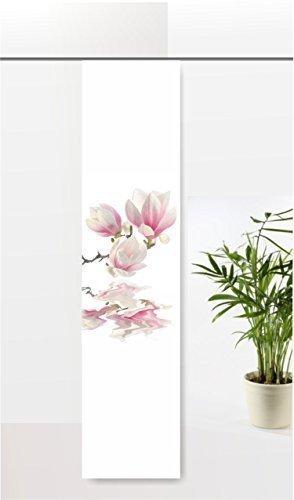 gardinen-for-life Flächenvorhang Magnolie im Wasser, Schiebevorhang mit Druck-Motiv, Gr.60x245 cm