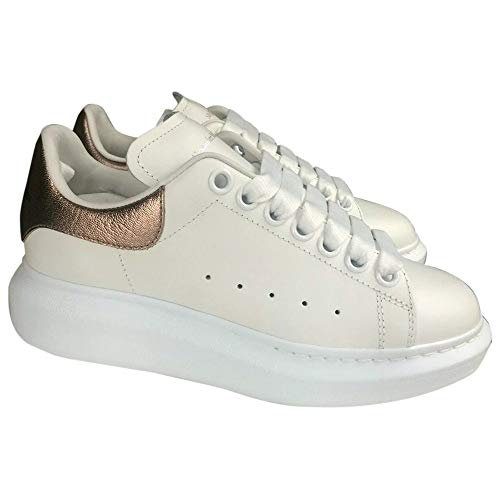 Alexander McQueen White/Rose Gold Oversize Sneakers New/Authentuc (Numeric_8_Point_5)